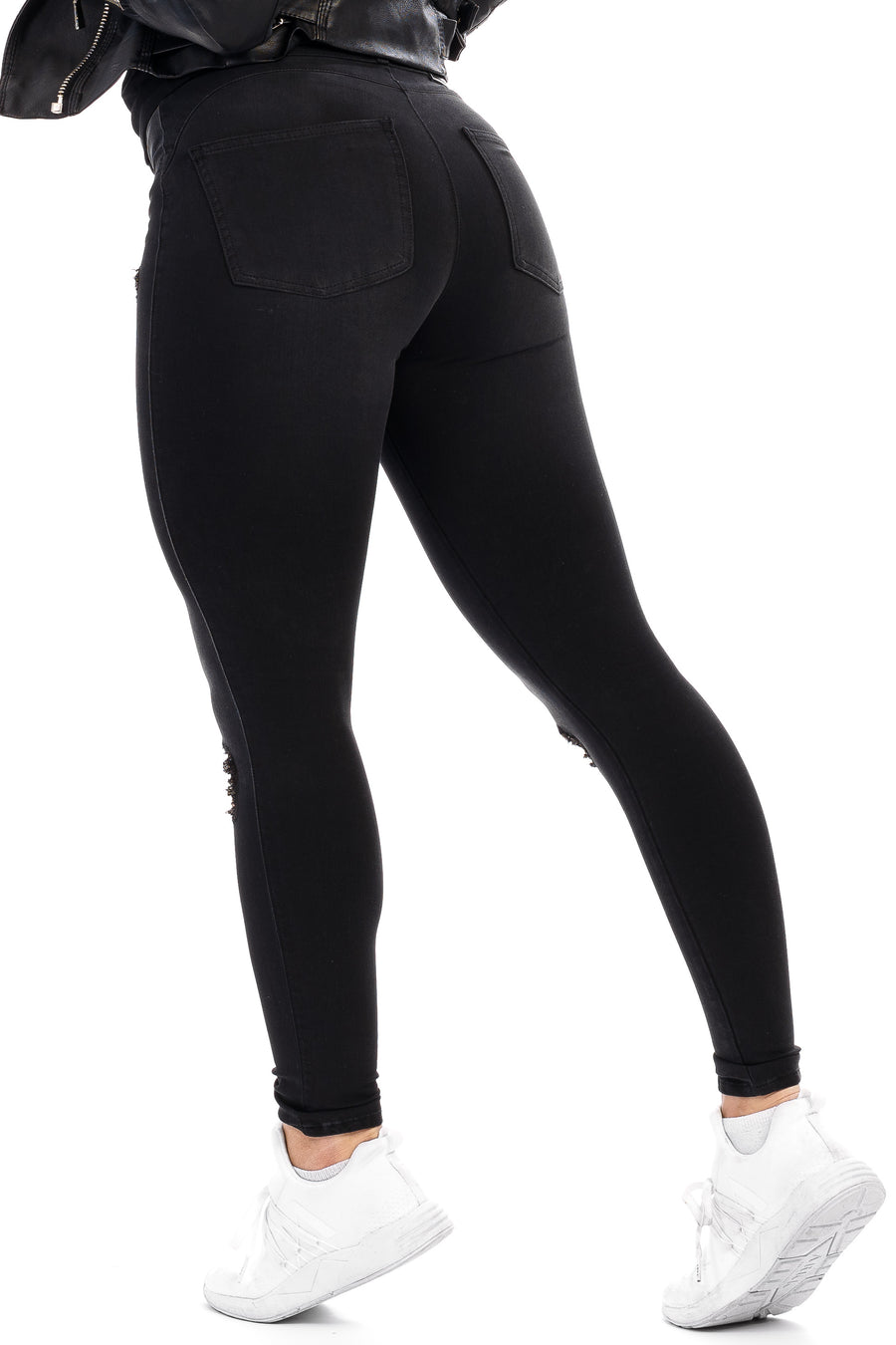 Womens Ripped 360 Fitjeans - Grey Shade