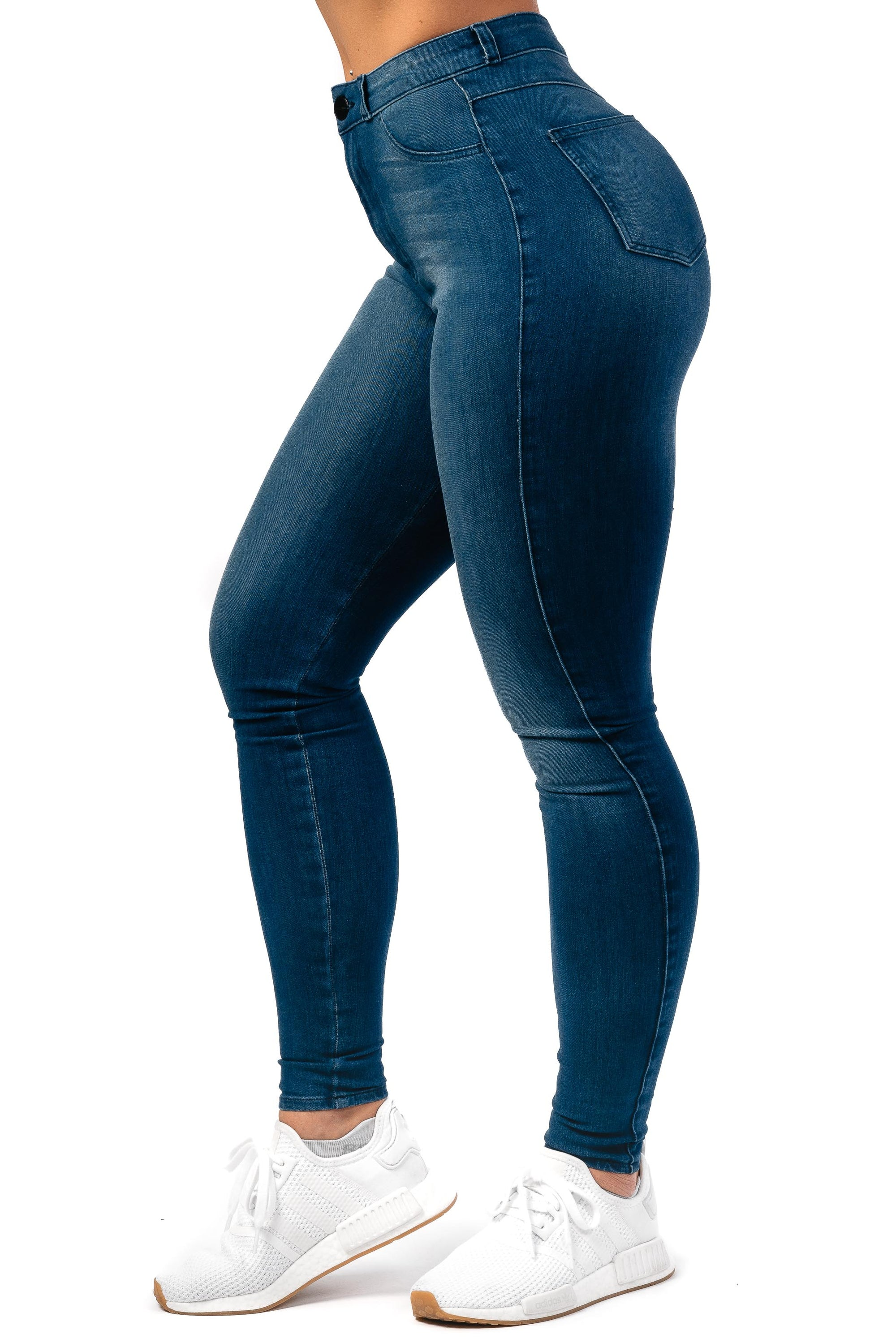 Womens 360 High Waisted Fitjeans - Azure Blue