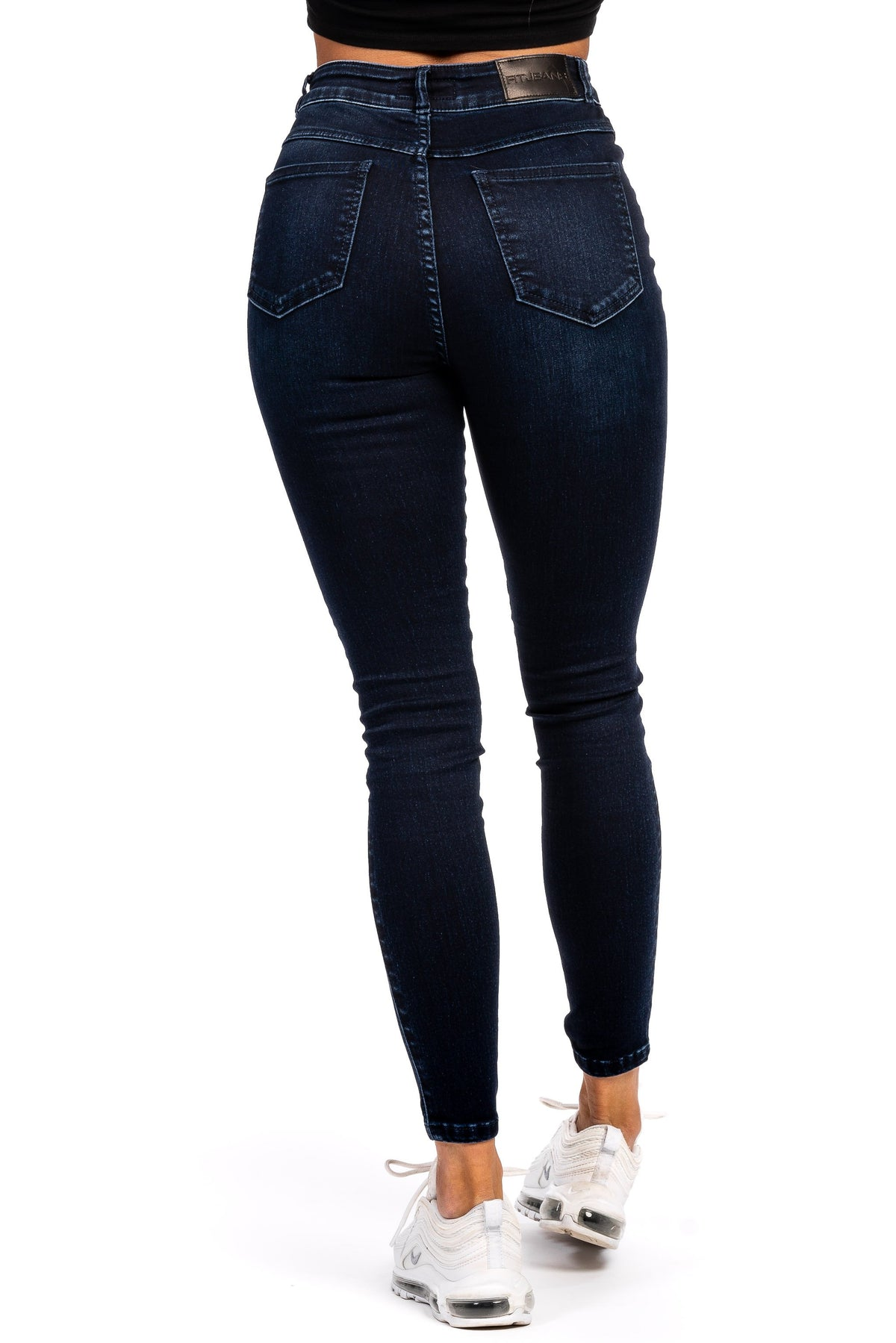 Womens Traditional High Waisted Fitjeans - Midnight Navy