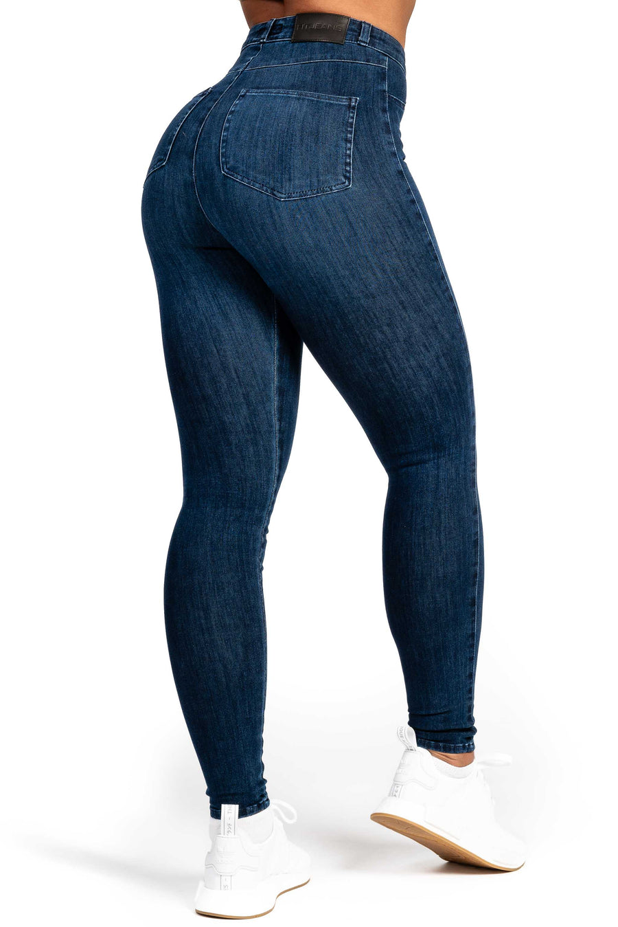 Womens High Waisted 360 Fitjeans - Midnight Navy