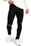 Mens Regular Ripped Fitjeans - Black