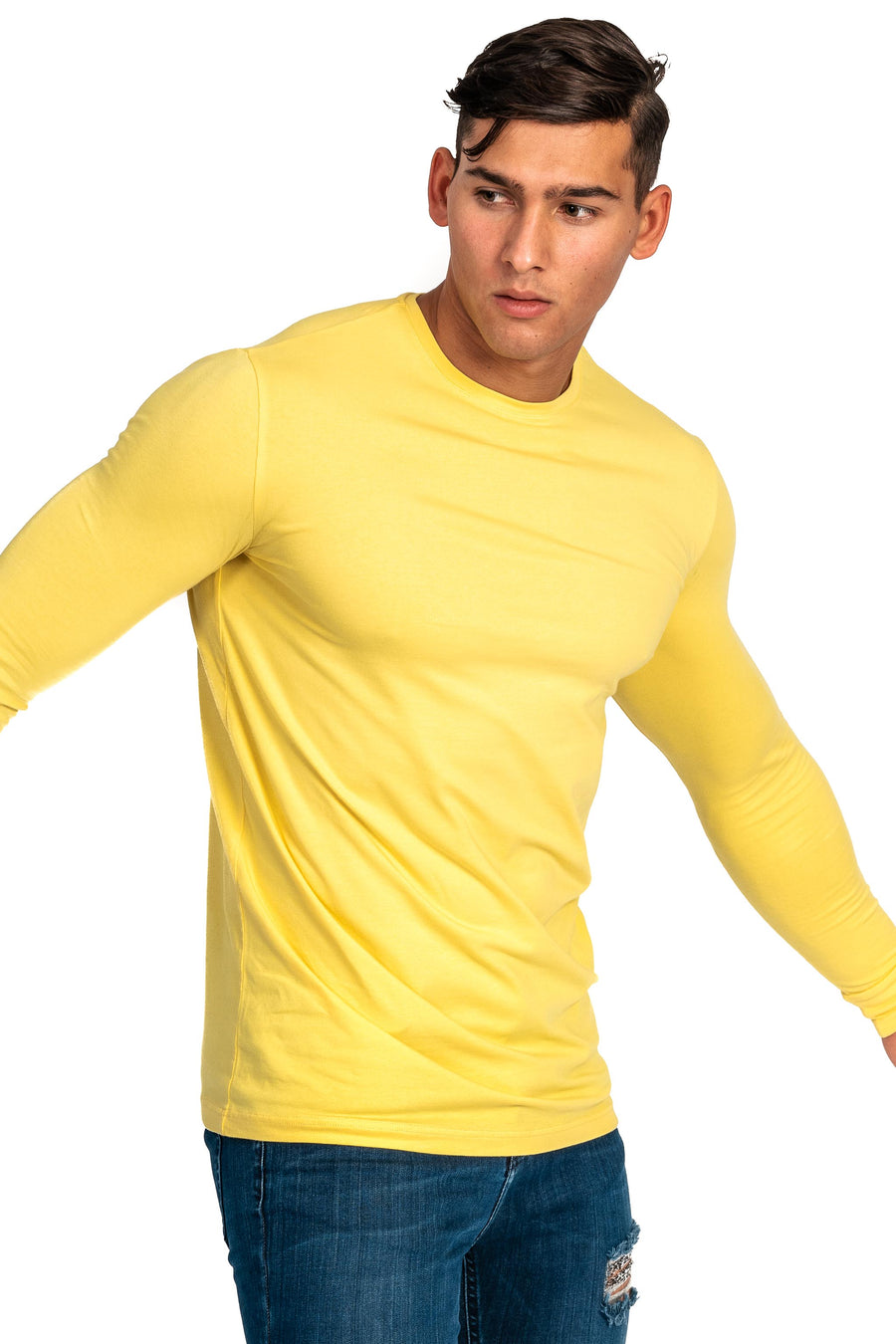 Mens Long Sleeve T-Shirt - Aspen Yellow