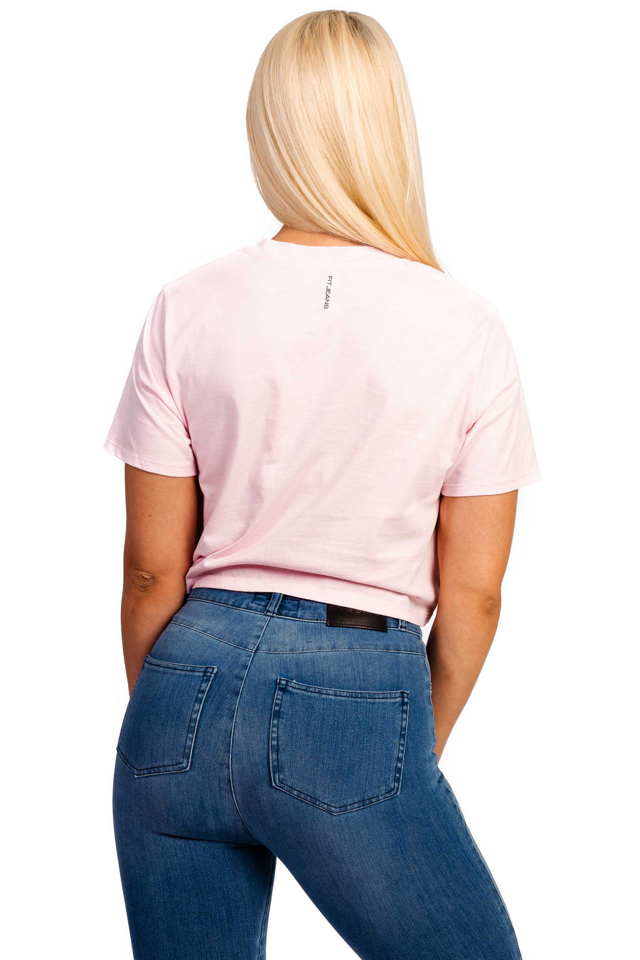 Womens Cropped T-Shirt - Pastel Pink