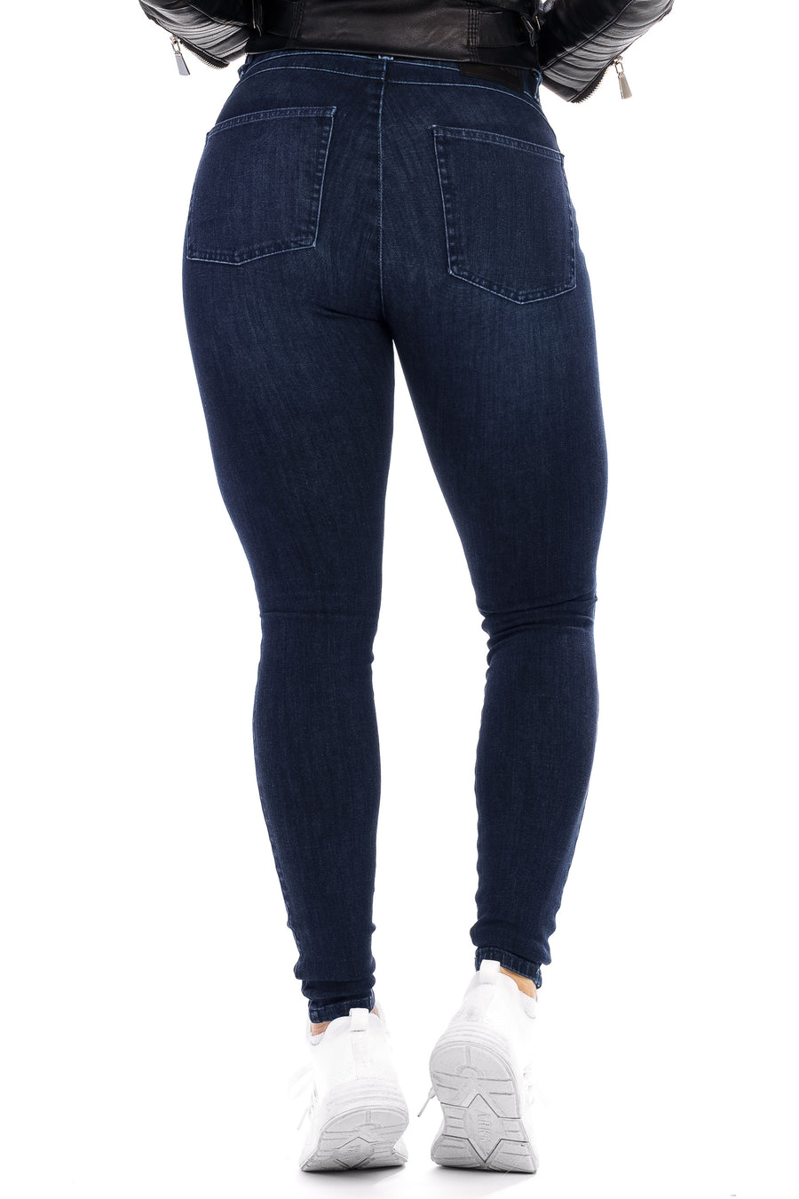 Womens Ripped 360 Fitjeans - Deep Indigo