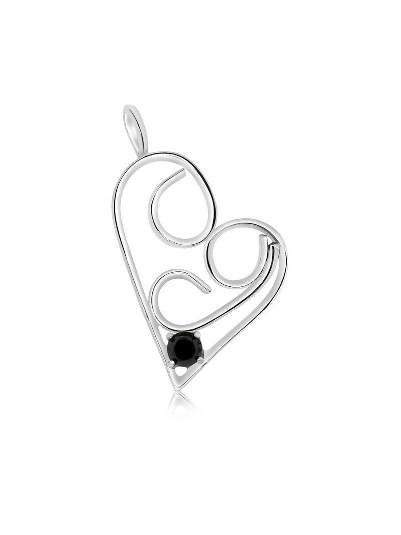Limited Edition Swirly Black Diamond Heart