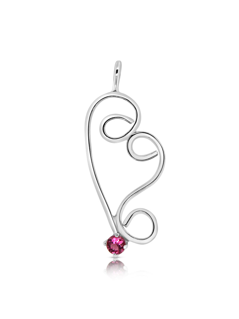 Limited Edition Swirly Pink Tourmaline Heart