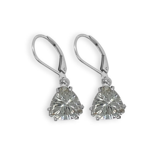 Green Amethyst Trillian Dangle Earrings