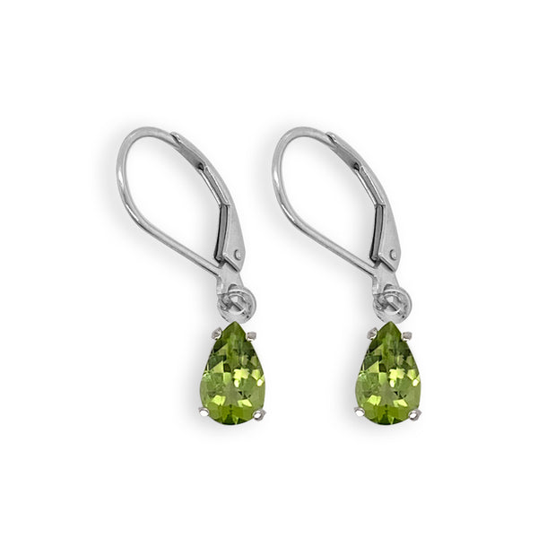 Peridot Pear Dangle Earrings