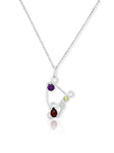 Chakra Necklace – First, Fourth, Fifth and Seventh Chakras