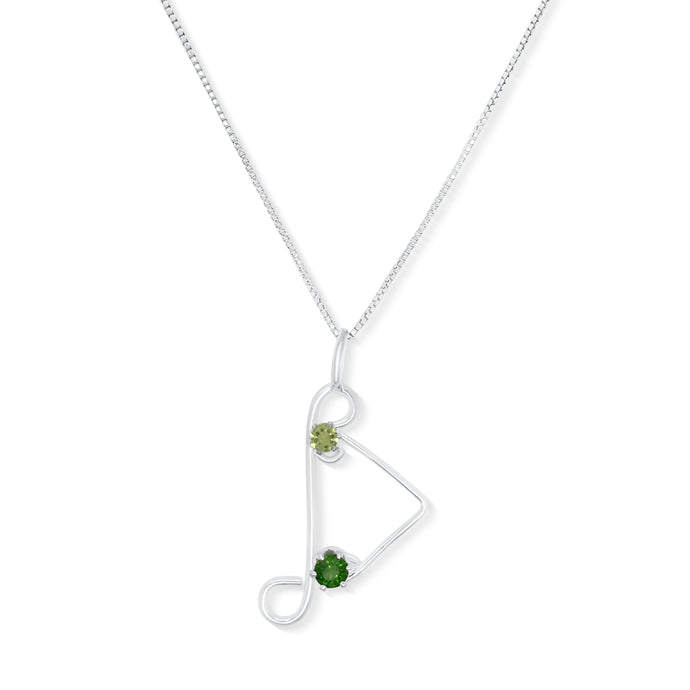 Chrome Diopside and Peridot Pendant