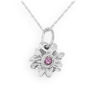 Forget-Me-Not With Pink Sapphire