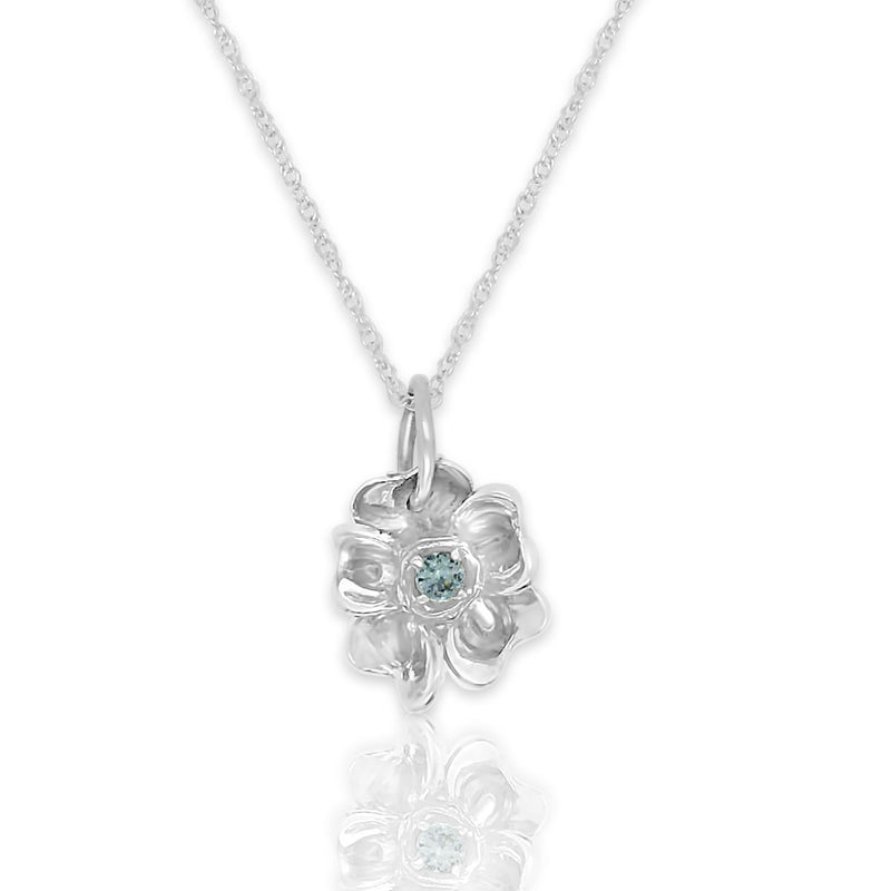 Forget-Me-Not With Blue Topaz