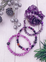 Purple Agate Gemstone Bracelet