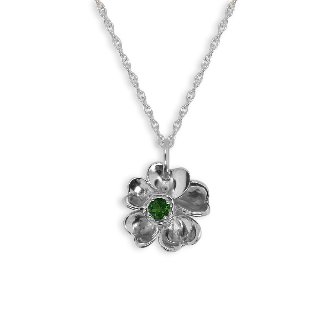 Forget-Me-Not With Chrome Diopside