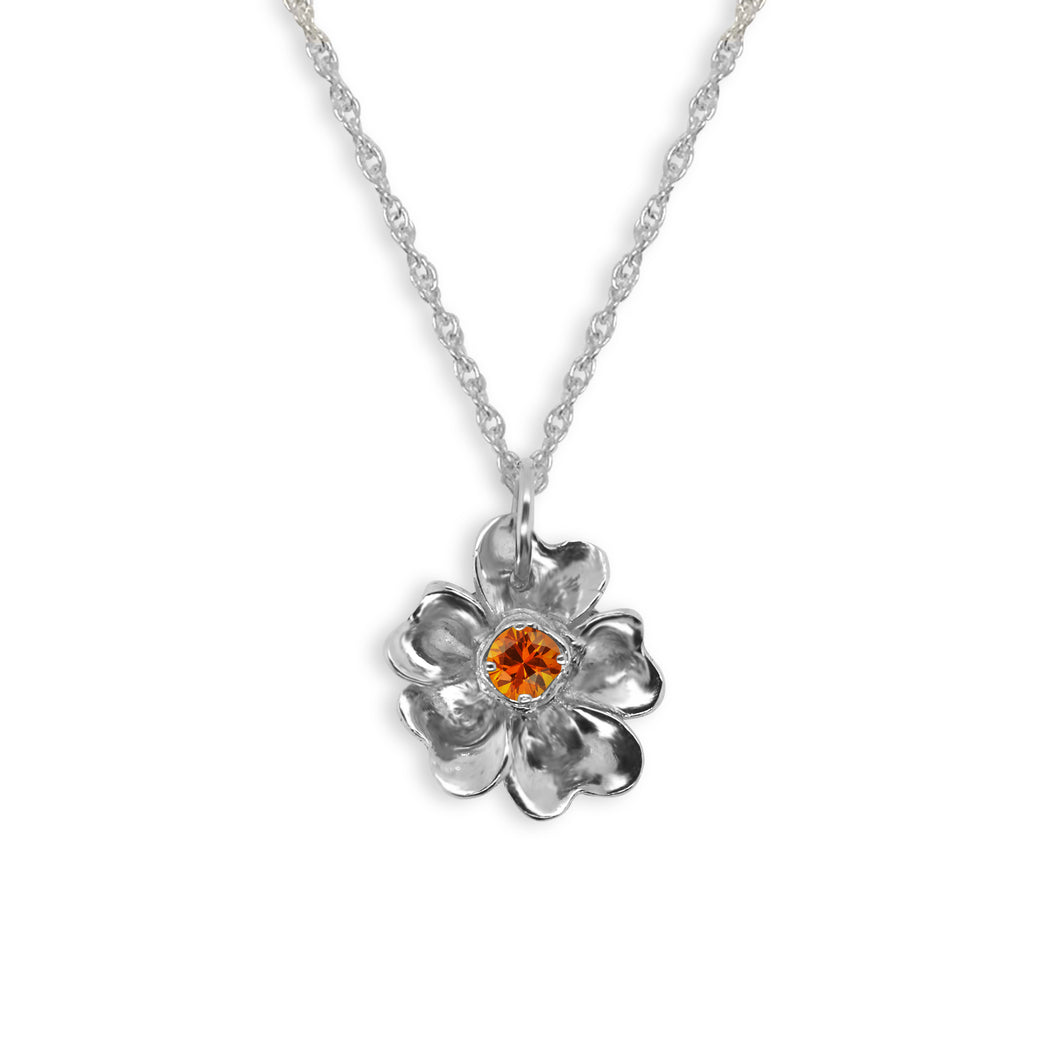 Forget-Me-Not With Citrine