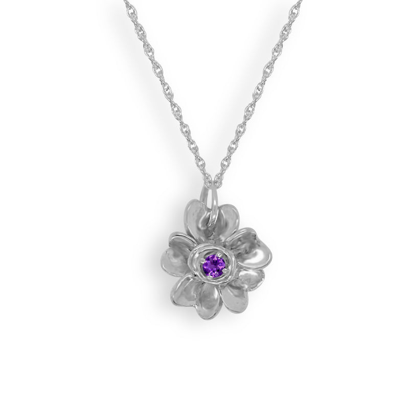 Forget-Me-Not With Amethyst