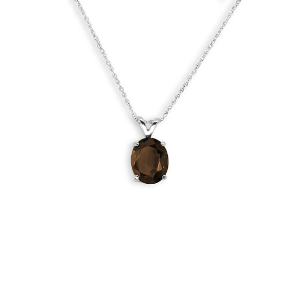 Oval Shaped Smoky Quartz Pendant
