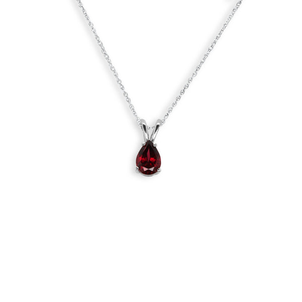 Pear Shaped Garnet Pendant