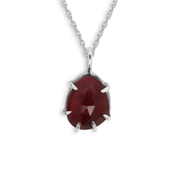 Rose Cut Ruby Pendant