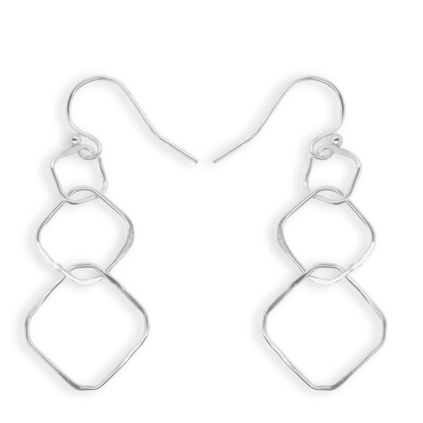 Simply Silver Square Drop Earrings