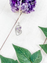 Swirly Purple And Lavender Sapphire Heart