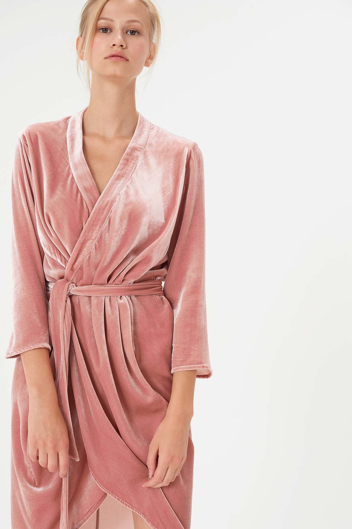 "Robe Maé - Édition ""All night long"" (Velours rose) - Côme Éditions"