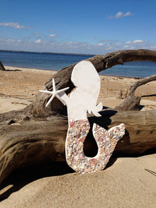 Mermaid holding Starfish- Large