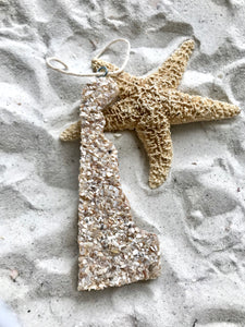 Delaware State Shaped Wood Ornaments