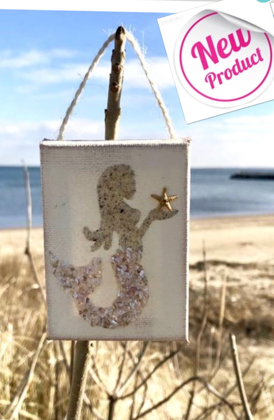 Mermaid ornament Made of Sand & Crushed Shell