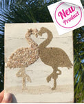 Flamingos on Reclaimed wood