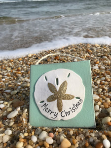 Sand Dollar Merry Christmas Ornament
