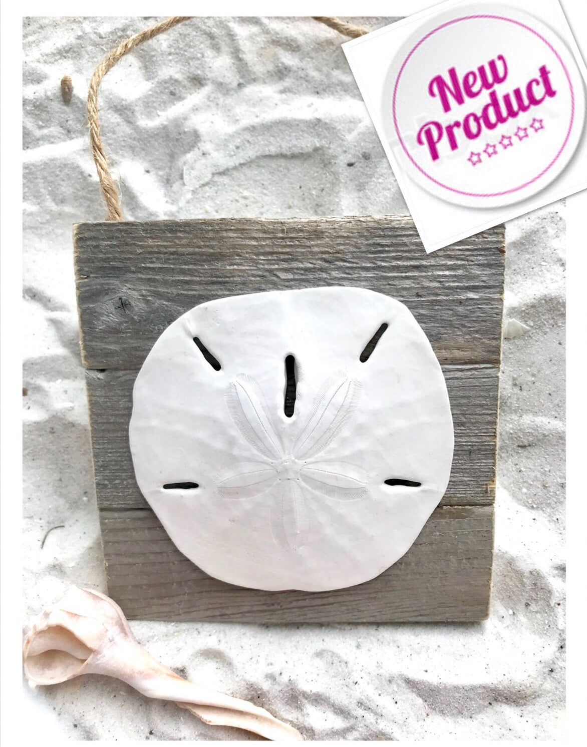 Sand dollar on dune fence Customized For You Ornament