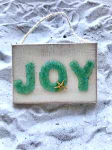 Joy Crushed Glass Ornament
