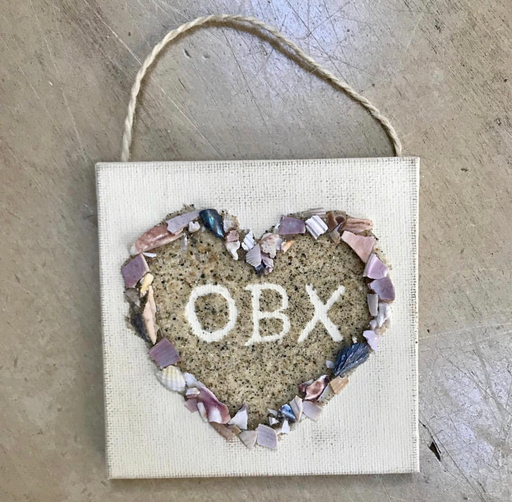 Outer Banks Sandy Heart and Crushed Shells Ornament
