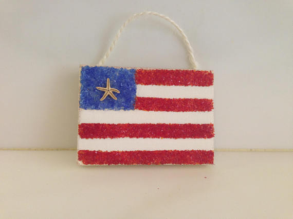 T1205 Patriotic Flag Ornament