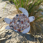 Turtle made of wood and shells