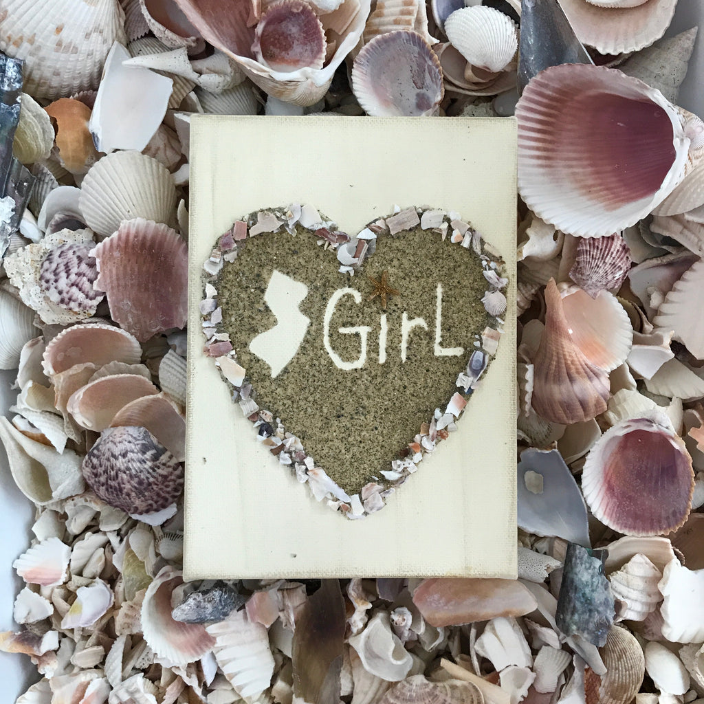 Sand & Shell heart Jersey Girl