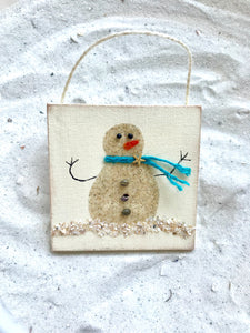 Sand Snowman Ornament item #T1490