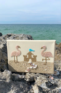 T2021 5x7 flamingos/sandcastle