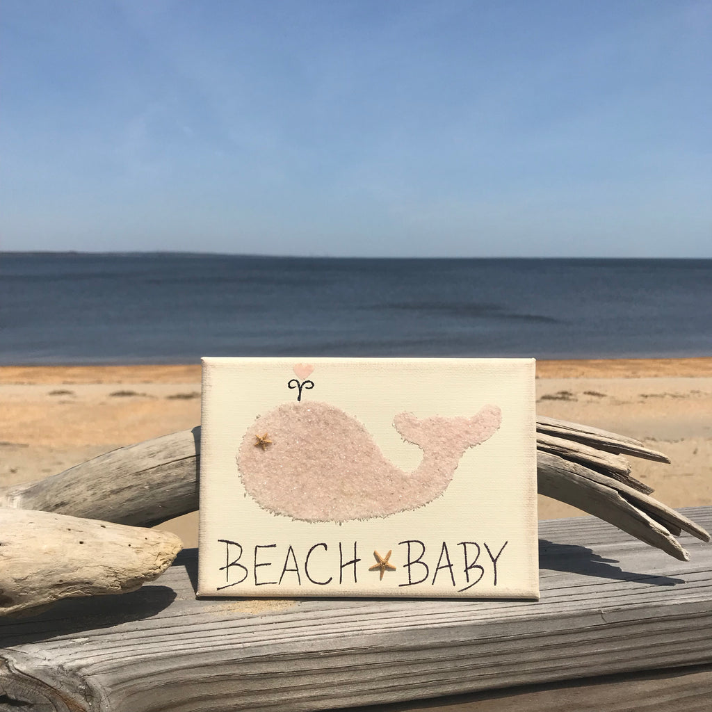 T1482 Beach Baby Wall Hanging
