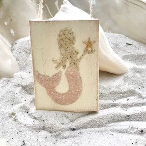 T1508 mermaid pink tail ornament