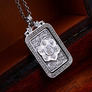 Six Words Mantra Plata 925