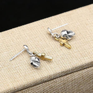Mini Skulls & Crosses Plata 925