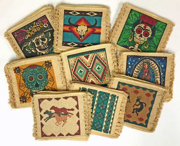 Southwest, Western, & Day of the Dead Cotton Stencil Coasters