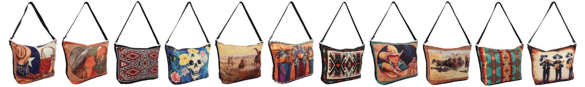 Digital Print Southwest, Western, & Day of the Dead Purses