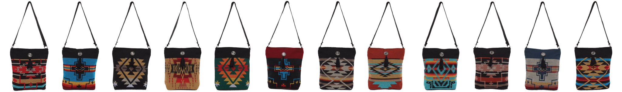 Southwest Geometric Design Concho Handbags