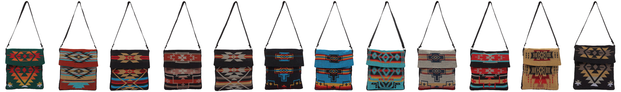 Southwest Geometric Design Shoulder Bags