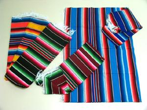 AUTHENTIC 5'x 7'  10-MEXICAN SERAPES  !  WILL NOT LAST AT THIS COOL PRICE ! Only $18.50 ea.!