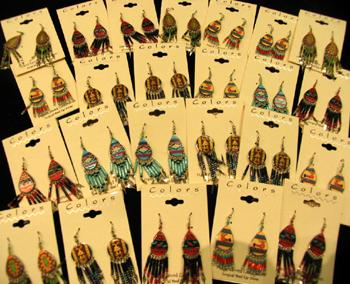 # 1 SELLER ! 24 PAIR SOUTHWEST STYLE EARRINGS !  Wholesale $2.50 a pair!