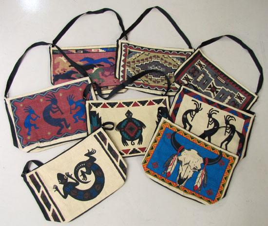 SELLERS FAVORITE! 12- Fast Selling Cotton Stencil Purses! WHOLESALE $7.50  ea.!